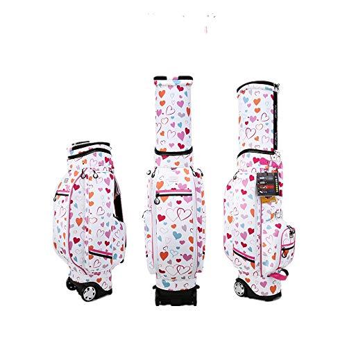 Hhjkl Golftrolley-Tasche, wasserdicht, Golftasche für Golfschläger, leichte Golftasche für Damen, Bildfarbe, 126x23x43cm