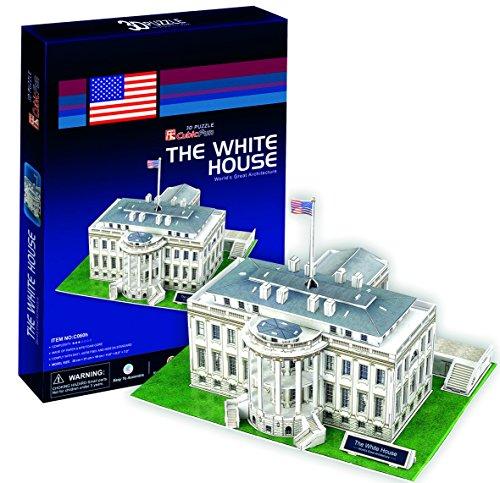 Ak Sport - Puzzle de 64 Piezas, diseño de casa en 3D, Color Blanco