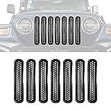 Candybarbar Para 2007-2017 Jeep Wrangler JK Auto Tapa del Tanque de Combustible de Gas para autom/óvil con Tapa de Bloqueo Accesorios Decorativos Piezas