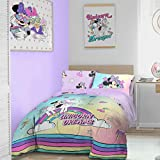 Disney Minnie Mouse - Set copripiumino Disney 'Unicorn', Cotone Poliestere, Multicolore, Doppio