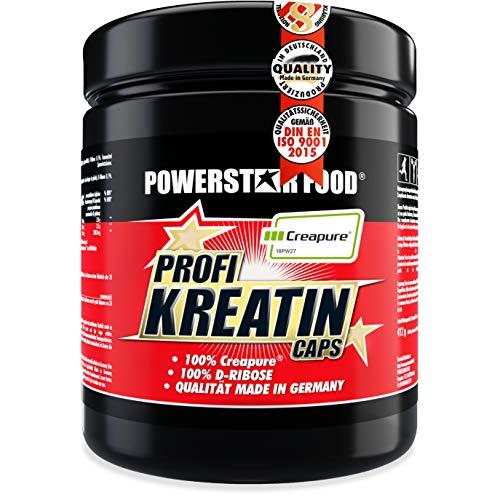 Kreatin Monohydrat hochdosiert - 500 Kapseln - 100% reinstes Creapure® plus D-Ribose, eine von Sportlern favorisierte Kombination
