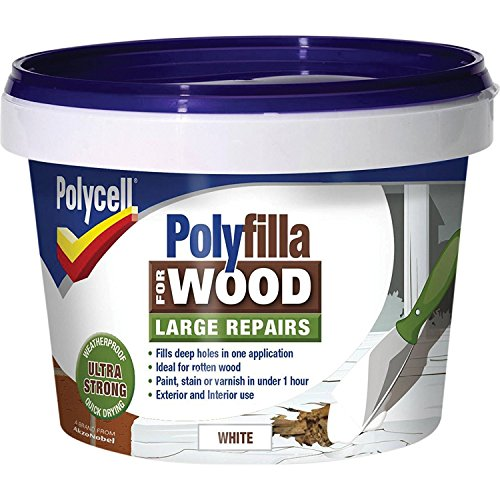Polycell Polyfilla 5207193, 2-tlg. Holzspachtelmasse, 500g, weiß (2Stück)