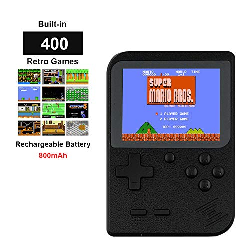 Fiotasy Handheld Retro Games Consoles with 400 NES FC Games, Portable 2.8 Inch Gameboy with 800mAh Rechargeable Battery, TV AV Video Output for Kids Men Women, Ideal Christmas or Birthday Gift