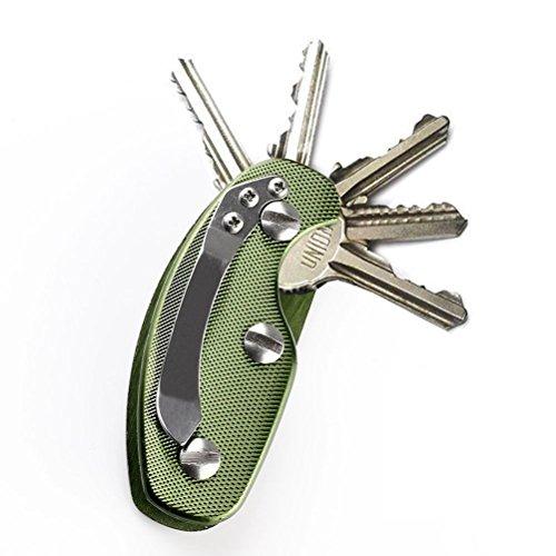 WINOMO Organiseur Porte-clé Aluminium Porte-clé Clip Dossier Porte-clés Outil de Poche en extérieur – 1 pièce