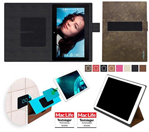 reboon Hülle für Asus VivoTab RT TF600T Tasche Cover Case Bumper | in Braun Wildleder | Testsieger