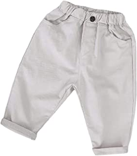 Wofupowga Boys Cotton Large Size Baggy Casual Linen Elastic Rise Tights Beach Shorts