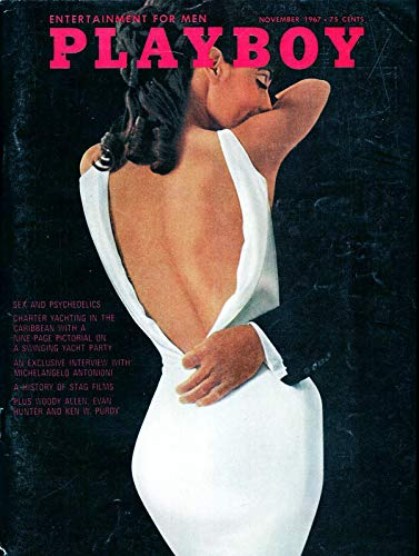 Nxsbns Playboy Woman in White - Magazine Cover Plaque Home Decor Metal Tin Sign 12' X 8'