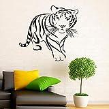 King of the Forest Tiger Beast Etiqueta de la pared Vinilo Interior Decoración del hogar Predator Animal Applique Houseware Room Mural 42 * 44cm