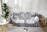 Manta Protectora para sofá, Morbuy Manta de sofá Cálida y Gruesa Manta de Hilo de algodón Suave Sofá A Prueba De Polvo Manta De Liviana for Cama o sofá (90 * 210 cm,Enrejado)