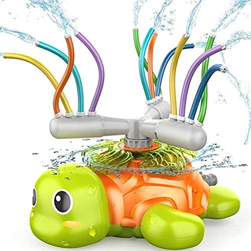 AADEE Jouet pour enfants, arroseur tortue rotatif, jouet à tuyau balançoire, pour les jours d'été en plein air, jouet pour enfants, tout-petits, garçons, filles, animaux domestiques