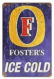 Placa retro de estaño de metal, estilo bar de cerveza, placa retro para decoración de pared, cartel del Club de cerveza, tamaño 20 x 30 cm (8inch x 12 inch)