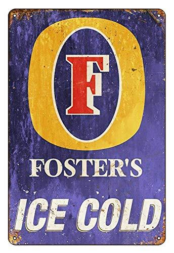 Asher Vintage Country Boarding Beer Beer Inspiration-Bar - Placa de diseño retro de metal, decoración de pared, de metal, tamaño 20 x 30 cm