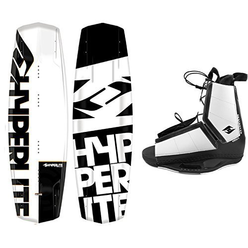 Hyperlite Wakeboard Agent 2020 with Destroyer Wakeboard Bindings Fits Most Shoe Sizes