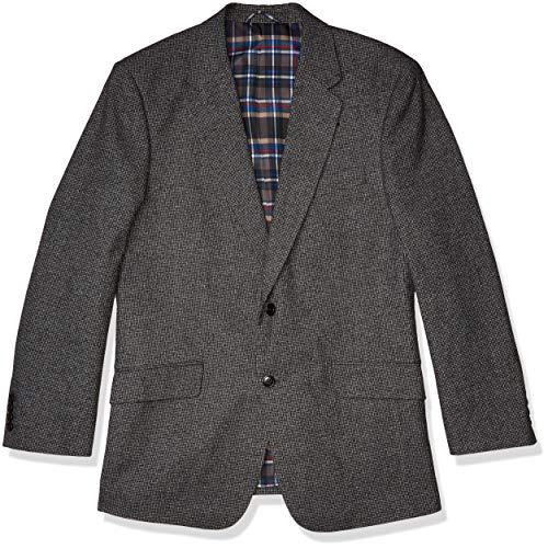 U.S. Polo Assn. Men's Portly Cotton Cashmere Sport Coat, Grey Neat, 56 Regular