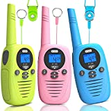 Toys for 3-12 Year Old Boys and Girls, 3 Packs 2 Way 1.86 Miles/3KM Range Walkie Talkies for Kids, Dr.meter 22 Channels Radio Gifts for Kids Birthday Party Indoor Outdoor Camping with Backlit LCD