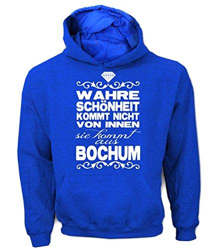 Artdiktat Herren Hoodie - Wahre Schönheit kommt Nicht von Innen - Sie kommt aus Bochum Größe XL, blau