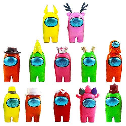 BESTZY Among Us Figuras en Miniatura 12PCS Among Us Figure Toy Entre...