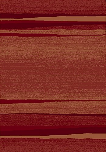 KOBEL Moderner Teppich Balta Carré 2100808112017 Maße 120 x 170 cm geometrisches Muster Rot und Orange Moderner Maschinengewebter Teppich aus Polypropylen gemütlich jeden Raum im Haus