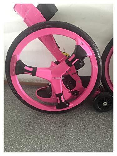 Youpin Patines de goma para deportes al aire libre, 16 pulgadas, 2 ruedas grandes, para patinaje en línea, tamaño 34-43 cm, Freeline TF-02 (color: rosa)