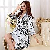 Handaxian Robe de mariée Robe de mariée en Satin de Rayonne Dames Kimono Geisha Kimono imprimé Pyjamas à Fleurs