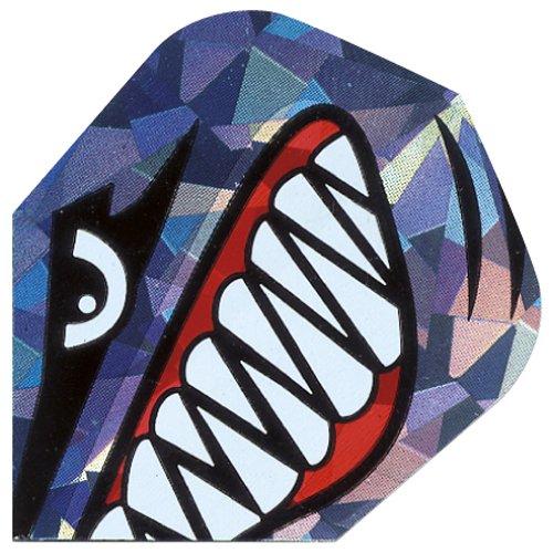 10x Packungen von 3Harrows Hologramm Standard Form Dart Flights alle Designs RRP £12 Shark Teeth Einheitsgröße