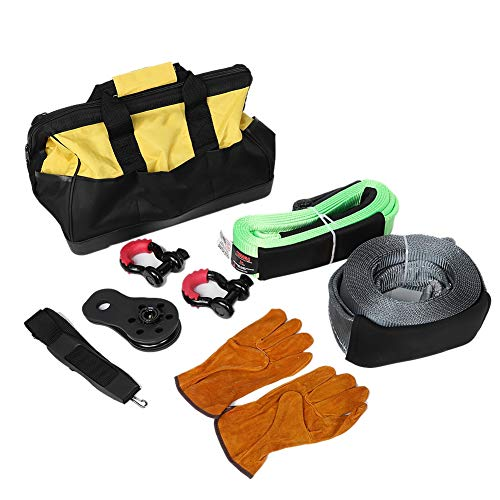 Best Price Cuque 11T 9M Towing Belt Gray + 12T 3M Tree Rope Green + 17 Inch Tool Bag + 2 Pcs 3/4 Inc...