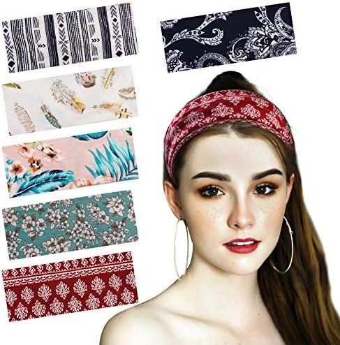 6 Pack Boho Headbands For Women Ponyo Hair Band Bandana Head Bands No Slip Fashion For Women product image