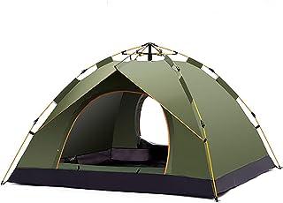 [ANION] テント ワンタッチテント 3~4人用 撥水加工 防水 通気性 設営簡単 折りたたみ ランタン付き 収納袋