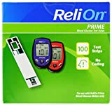 ReliOn Prime Blood Glucose Test Strips, 100 Count, Single Pack (2)