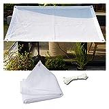 LSSB Tela de Sombra al Aire Libre Blanco Anti-UV HDPE HDPE Net para el hogar Balcón Suculento Protección de Plantas Portada Jardín Sunscreen Sunblock Sombreado Red, Personalizable