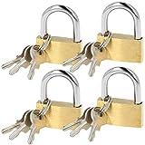 com-four® 4X Candado con 3 mismas Llaves - Candados amaestrados - Candado con Llave de Seguridad para el hogar, el Ocio, el Trabajo