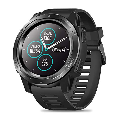 Zeblaze Vibe 5 Smart Watch,IP67 Waterproof Smartwatch Fitness Heart Rate Monitor Sleep Monitor Steps Counter Call Remind Pedometer Activity Tracker Smart Watch for iOS Android Phone(Black)
