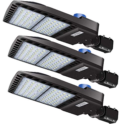 LEDMO 3 Pack LED Parking Lot Lights 200W Adjustable with Photocell Slip Fitter 26000lm Outdoor Dusk to Dawn Commercial Shoebox Pole Lighting Flood Security Lamp for Street Area Stadium Roadway 5000K