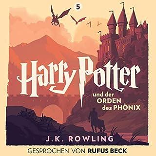 Harry Potter und der Orden des Phönix - Gesprochen von Rufus Beck     Harry Potter 5              Autor:                                                                                                                                 J.K. Rowling                               Sprecher:                                                                                                                                 Rufus Beck                      Spieldauer: 33 Std. und 3 Min.     3.810 Bewertungen     Gesamt 4,9