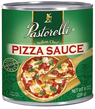 Pastorelli® Pizza Sauce – Original Italian Pizza Sauce made with Imported Extra Virgin Pizza Olive Oil and Pecorino Romano Cheese Shredded – Since 1952 Family Pizza Sauce Recipe – 8 Ounce  Pack of 12