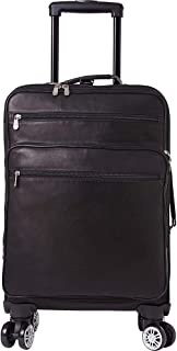 Piel 22 Inch Business Spinner Carry-On (Black)
