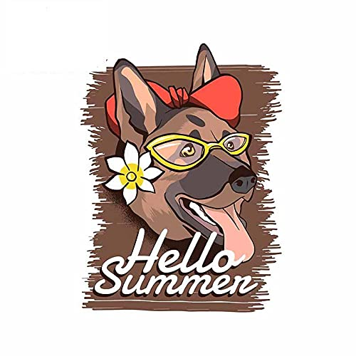 A/X 13 cm 9,8 cm para Hola Verano Pegatinas de Coche alemán Anime calcomanía Fina Personalidad Impermeable