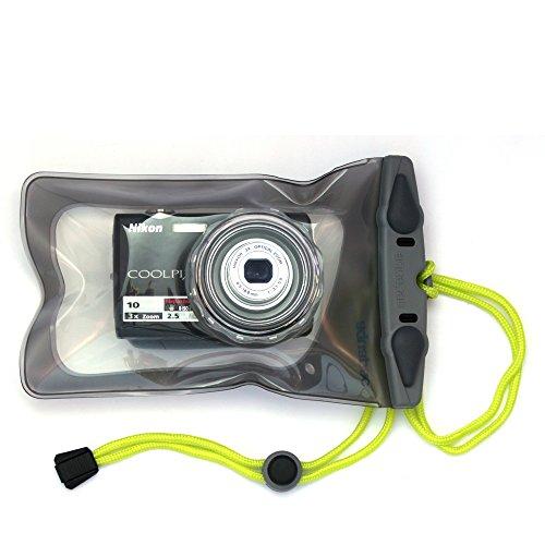 AQUAPAC デジタルカメラケース 428 スモール カメラ ケース ウィズ ハード レンズ 防水 グレー 428