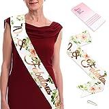 Qpout Konsait Oro Rosa 70 Favoloso Sash-70 Accessori Regalo per Compleanni Compleanno con Braccialetti diamantati a Forniture per Feste di Compleanno di settant'anni