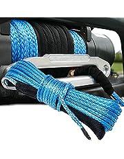 車用牽引ロープ 高強度繊維ロープ トレーラーベルト 車用トレーラーロープ 4.8mm*15M 積載量15トン