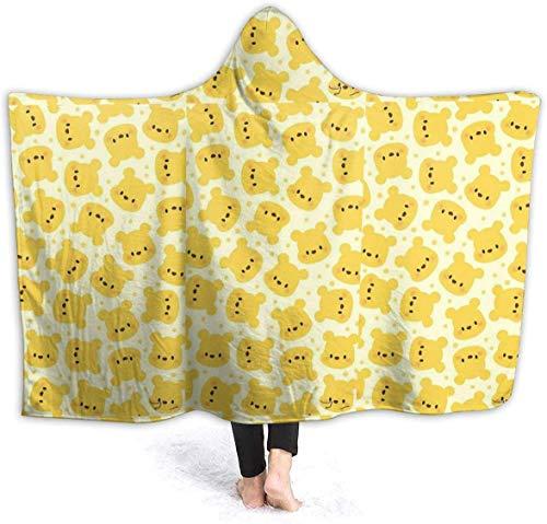 NR Couverture à Capuche bébé Winnie l'ourson Jeter Couverture câlin à Capuche Portable Robe 50 'x40'