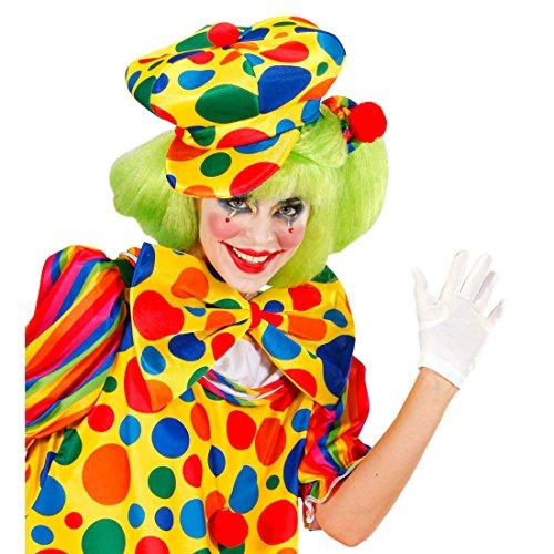 Amakando Casquette Clown Cirque comédie Bonnet de Fou Chapeau arlequin à Pois Multicolores Couvre-Chef farceur comédie Show képi fête Enfants Accessoire