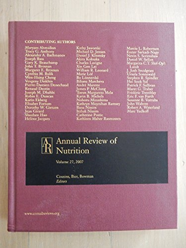 Annual Review of Nutrition W/ Online Vo: 27