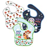 Bumkins SuperBib, Baby Bib, Waterproof Fabric, Fits Babies and Toddlers 6-24 Months - Disney Toy Story (3-Pack)