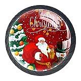 Maniglie per cassetti in cristallo da 4 pezzi,Biglietto di auguri per vacanze natalizie di...