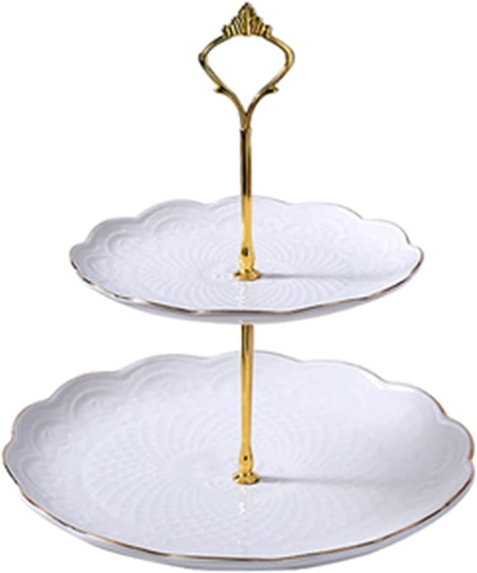 European-style Same day shipping Creative Ceramic Three-layer Liv Plate Fruit 5 ☆ very popular Home