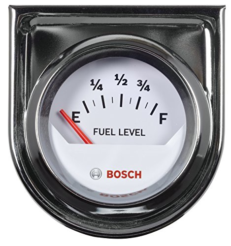 Bosch SP0F000048 Style Line 2' Electrical Fuel Level Gauge (White Dial Face, Chrome Bezel)