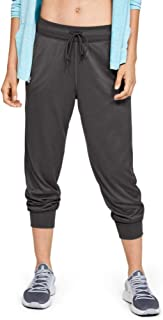 Under Armour Women's Tech 2.0 Pants, Jet Gray (010)/Metallic Silver, Large