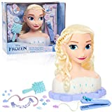 Disney Frozen 2 Deluxe Elsa The Snow Queen Styling Head, 17-Pieces by Just Play