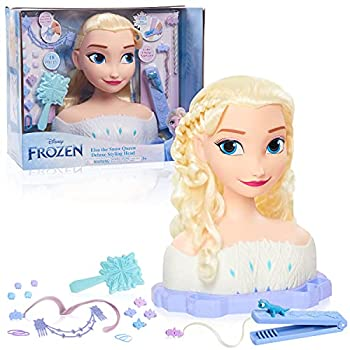 Disney Frozen 2 Deluxe Elsa The Snow Queen Styling Head 17-Pieces by Just Play